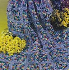 Crochet Pattern ~ LILAC RAINBOW AFGHAN ~ Instructions