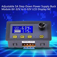 Ajustable DC-DC LCD Fuente de Alimentación Buck Módulo 6-32V a 0-32V 5A  CV