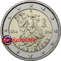 2 Euro Commémorative Italie 2014 - 200 Ans des Carabiniers