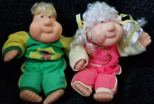 Two High Quality Stuffed Plush Pvc Dolls Brother & Sister by Bestoy Manufactory