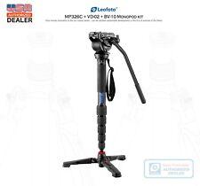 【US Dealer】 Leofoto MP-326C Video Kit :Monopod & BV-10 Video Head & VD-02 Base