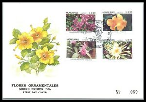 1992 HONDURAS FDC Cover - Flores Ornamentales, Tegucigalpa Q5