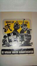 Rare Bruce Lee Lobby Card Movie Poster LaFureur De Vaincre 1971