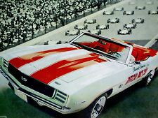 1969 CHEVY CAMARO SS 350 INDY PACE CAR ORIGINAL AD *rs/z28/door/hood/convertible