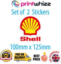 Shell Oil X 2 Pegatinas Calcomanías de petróleo Motorsport Calidad Impreso Etiqueta de vinilo