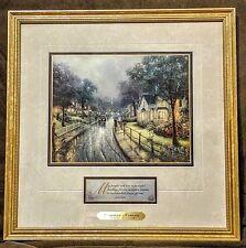 Thomas Kinkade Hometown Memories Framed Print with COA