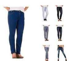 Klassische Damen-Jeans mit geradem Bein aus Denim
