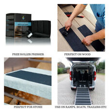 "Anti Slip Tape Large Indoor Outdoor Treads Black Adhesive Safety Flooring 6""x24"""