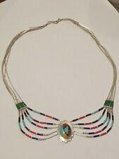 Vintage sterling silver native american necklace