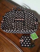 Vera Bradley Classic Black Large Handbag w/Mini Zip Wallet