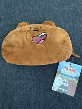We Bare Bears Coins Plush Zip Wallet Pouch Grizzly New