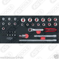 """KS TOOLS BBA 3/8"""" insieme zoccolo, 36-tlg. in 1/3 Systemeinlage 713.0036"""