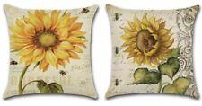 "Sunflower Square Pillowcase Home Sofa Decor Pillow Cover Cases Linen/Cotton 18"""