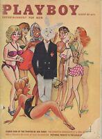 PLAYBOY AUGUST 1961 Mr Playboy cover Karen Thompson Girls of Hawaii 30s Cars (2)