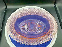 "Pink Depression Glass 12"" Oval Dish / Platter - ANCHOR HOCKING Miss America"