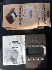 Korg CA-10 Chromatic Tuner Guitar Bass Brown Tested A00