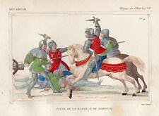 COSTUME DE LA FRANCE XVe /  Scène de la bataille de Rosbecq