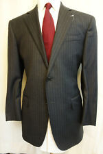 NWOT Brooks Brothers Custom Tailored Gray Pinstripe Wool Suit 40R