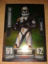 Force Attax Star Wars Serie 2 Starkarte Nr.204 Klonkommandant Cody Sammelkarte
