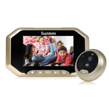 "3.0"" Visual Monitor Door Peephole 145°Wireless Viewer Camera Video Gold"
