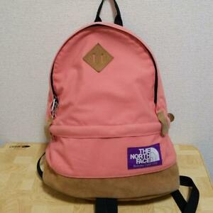 THE NORTH FACE PURPLE LABEL Pink Backpack USED From Japan F/S