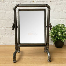 Industrial Rectangle Cheval Dressing Table Bathroom Makeup Shaving Pipe Mirror