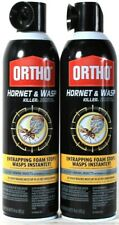 2 Cans Ortho 16 Oz Hornet & Wasp Killer Entrapping Foam Stops Wasps Instantly