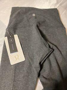 Lululemon Wunder Under Pant HR HBLK Size 4 Hugged Sensation Practice Cotton