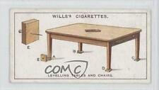 1927 Wills Household Hints Tobacco Base #44 Levelling Tables And Chairs Card 1s8