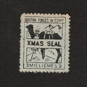 EGYPT 1933 BRITISH FORCES BLACK/AZURE CHRISTMAS SEAL S.G. A3 MINT UNUSED