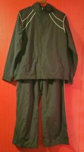 NWT Champion Men's Polyester Track Suit- Pant & Jacket Black Vintage (Size XL)
