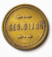 Geo R Dixon Spice Mills Sycamore 5c Trade Token Cincinnati 21mm