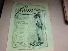 """ANCIENNE REVUE """" FEMINA """" N° 10   ANNEE 1901"""