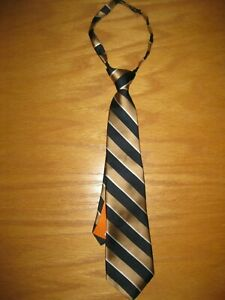 NWT Gymboree Holiday Shine One Size Navy Blue Gold Striped Tie