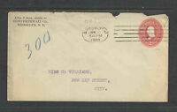 1900 COWPERTHWAIT CO BROOKLYN NY 2¢ RED WASHINGTON ADVERTISING COVER + OVAL