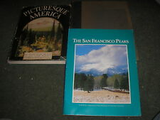 LOT OF 3 BOOKS PICTURESQUE AMERICA-USA GREAT HISTORIC PLACES-SAN FRANSISCO PEAKS