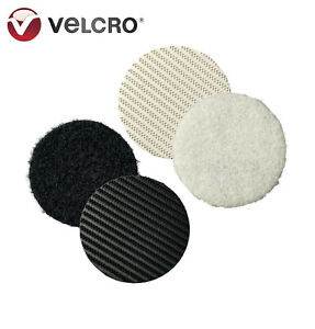 Heavy-Duty VELCRO® White & Black Self Adhesive Coins Stick On Industrial Dots