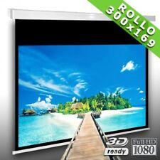 16:9 Rolloleinwand Slender Line 300 x 169 Beamer Leinwand FULL-HD 4K 3D tauglich