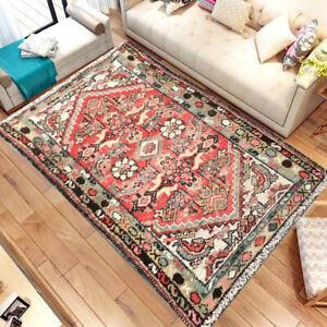 1191 Vintage Afghan Handmade Rug Flatweave Rug Oriental Floor Wool Rug 2x4