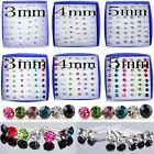 Lot 24 Paires Chic Multicolore Boucles D'oreilles Clou Strass Cristal Bijoux