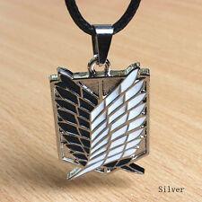 Silver Anime Attack On Titan Shingeki no Kyojin Cosplay Necklace Scouting Legion
