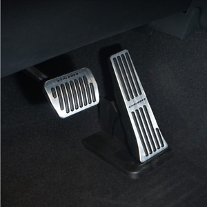 2pcs Silver No Drilling Gas Brake Foot Pedal Cover AT For Ford Explorer 2020