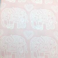 3pc Nicole Miller FULL Ornate Elephant Duvet Sham Set Hearts Pink Aqua Tassel