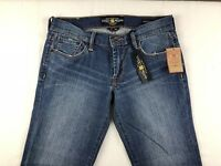 NEW Lucky Brand Sweet' N Crop Women's Blue Jean Embroidered Pockets Size 2/26