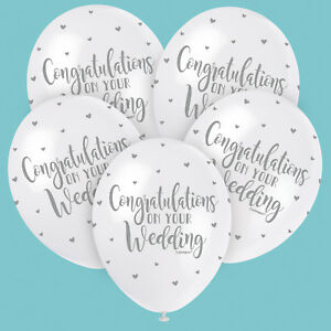 Congratulations on Your Wedding Latex Balloons Helium or Air Fill