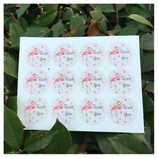 36 Pcs Round pink flamingo Thank You Stickers Seal the envelope and gift box