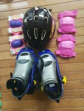 Patentado No 199229 Kids Inline Skates Roller Blades Shoes Helmet Knee Arm pad