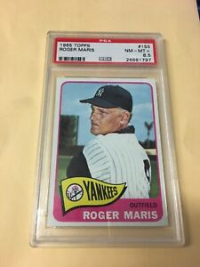 1965 Topps Roger Maris #155 Yankees PSA 8.5