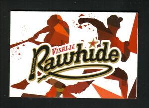 Visalia Rawhide--2020 Pocket Schedule--Lifestyle Center--Diamondbacks Affiliate