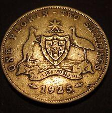 1925 Australia 2/- Two Shillings One Florin #25-F-01